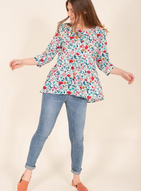 Botanical Blouse Front Wide