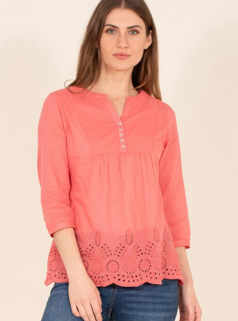 Broderie Blouse Front