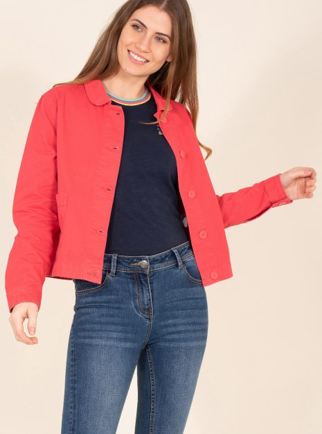 Pink Canvas Jacket Front